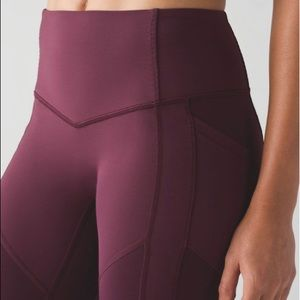 LIKE NEW - All The Right Places Lululemon (Maroon)